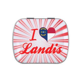 I Love Landis, North Carolina Jelly Belly Candy Tin