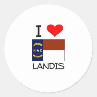 I Love Landis North Carolina Classic Round Sticker