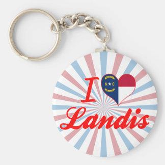 I Love Landis, North Carolina Keychains