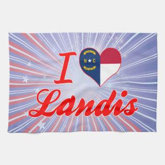 I Love Landis, North Carolina Towels