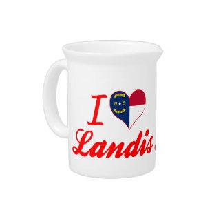 I Love Landis, North Carolina Beverage Pitcher