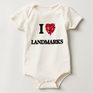 I Love Landmarks Baby Creeper