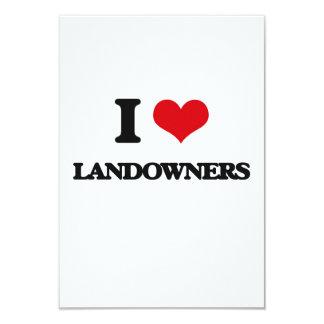 I Love Landowners Custom Invitations