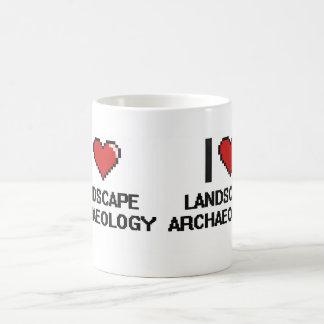 I Love Landscape Archaeology Digital Design Classic White Coffee Mug