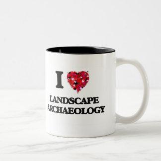 I Love Landscape Archaeology Two-Tone Coffee Mug