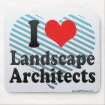 I Love Landscape Architects Mousepad