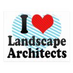 I Love Landscape Architects Postcard