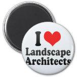 I Love Landscape Architects Refrigerator Magnet