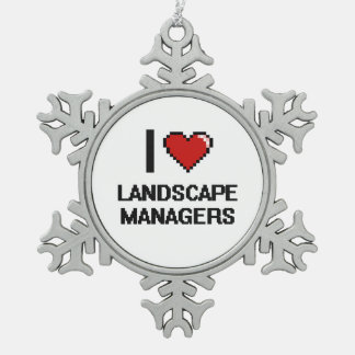 I love Landscape Managers Snowflake Pewter Christmas Ornament