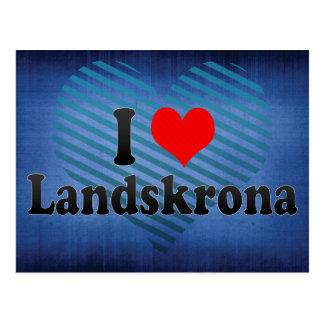 I Love Landskrona, Sweden Postcard