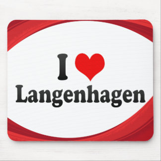 I Love Langenhagen, Germany Mouse Pad