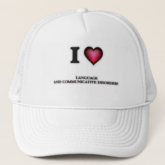 I Love Language And Communicative Disorders Trucker Hat