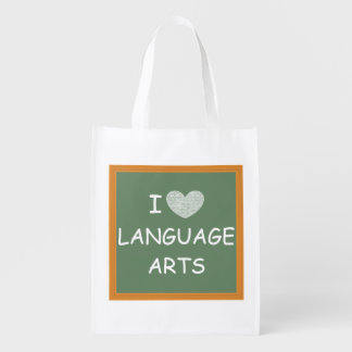 I Love Language Arts Grocery Bag