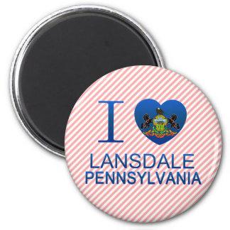 I Love Lansdale, PA Refrigerator Magnet
