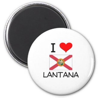 I Love LANTANA Florida Magnets