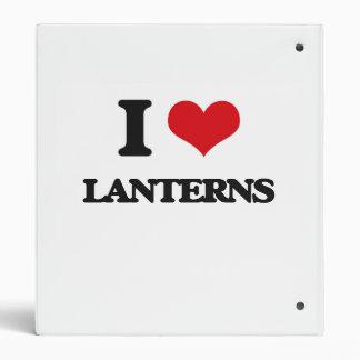 I Love Lanterns Vinyl Binders