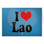 I Love Lao Greeting Card