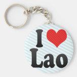 I Love Lao Key Chains