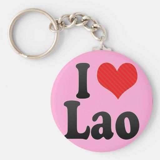 I Love Lao Keychains