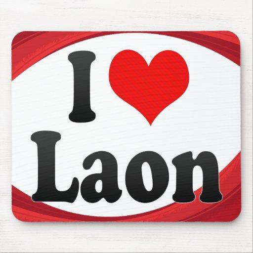 I Love Laon, France. J'Ai L'Amour Laon, France Mousepad