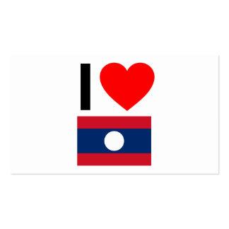 i love laos business card template