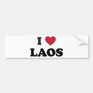 I Love Laos Car Bumper Sticker