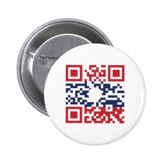 I Love Laos (Khoy Huk Lao) Flag QR Code | Lao Geek 2 Inch Round Button