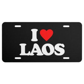 I LOVE LAOS LICENSE PLATE