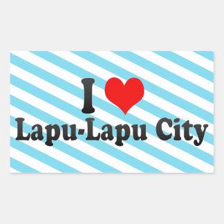 I Love Lapu-Lapu City, Philippines Rectangle Stickers