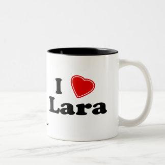 I Love Lara Two-Tone Coffee Mug