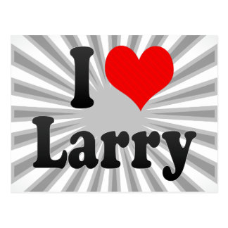 I love Larry Postcard