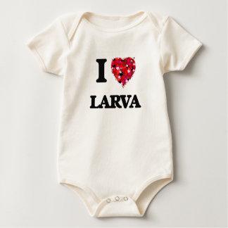 I Love Larva Baby Bodysuit