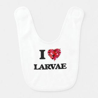 I Love Larvae Baby Bib