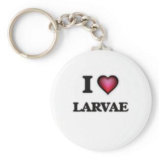 I Love Larvae Keychain