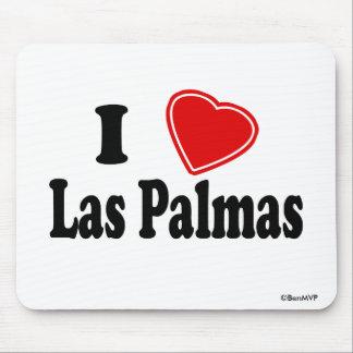 I Love Las Palmas Mouse Pads