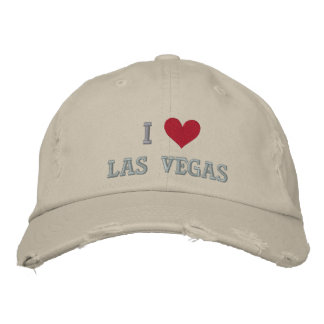 I LOVE LAS VEGAS -- NEVADA -- EMBROIDERED! EMBROIDERED BASEBALL HAT