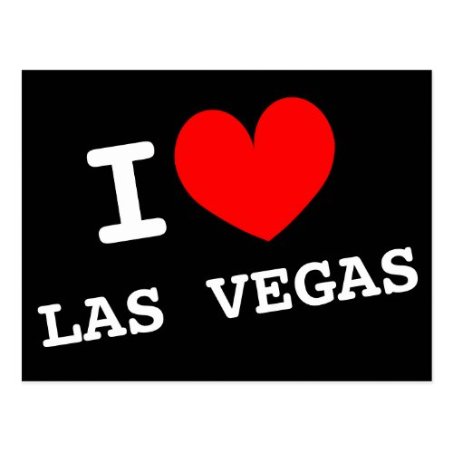 I love Las Vegas postcard  Customizable address