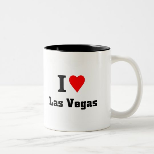 I love Las Vegas Two-Tone Coffee Mug