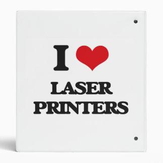 I Love Laser Printers 3 Ring Binders
