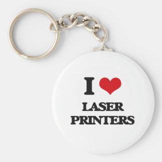 I Love Laser Printers Key Chains