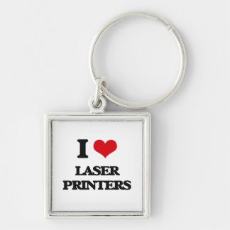 I Love Laser Printers Keychain