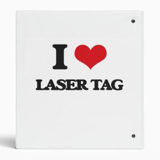 I Love Laser Tag Binder
