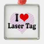 I love Laser Tag Christmas Ornaments
