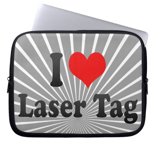 I love Laser Tag Computer Sleeves