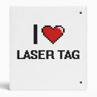 I Love Laser Tag Digital Retro Design Binders