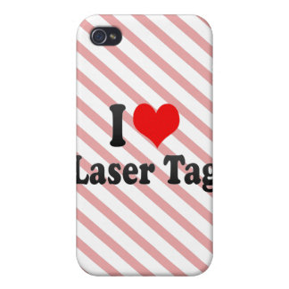 I love Laser Tag iPhone 4 Cases