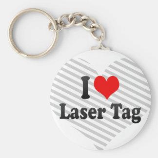 I love Laser Tag Key Chain