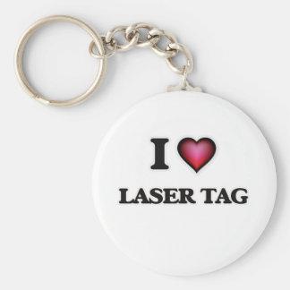 I Love Laser Tag Keychain