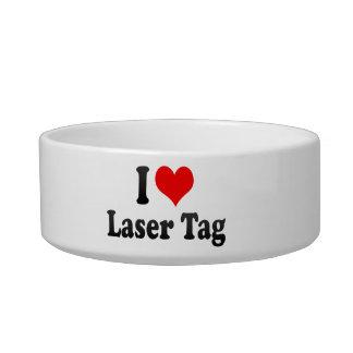 I love Laser Tag Cat Food Bowl
