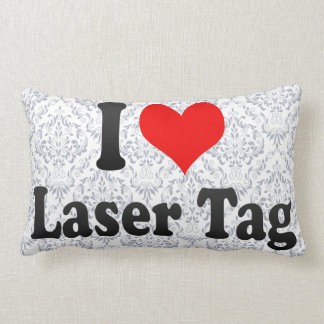 I love Laser Tag Throw Pillow